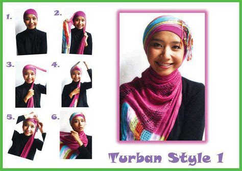 Jilbab Pesta cara memakai jilbab pesta turban style jpg siti hajar collection