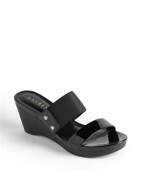 ralph wedge sandals by ralph rhianna leather platform wedge