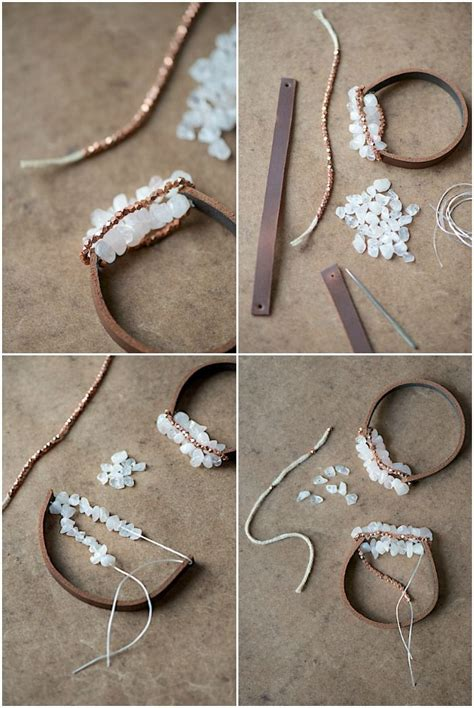 Colored Leather Chunky Charms by Diy Chunky Leather Bracelet Grab An Belt Some