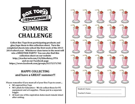 best summer sheets 1000 images about box tops for education on pinterest