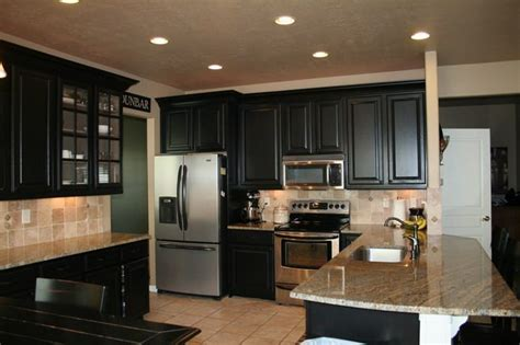 sherwin williams black cabinet refinished black cabinets