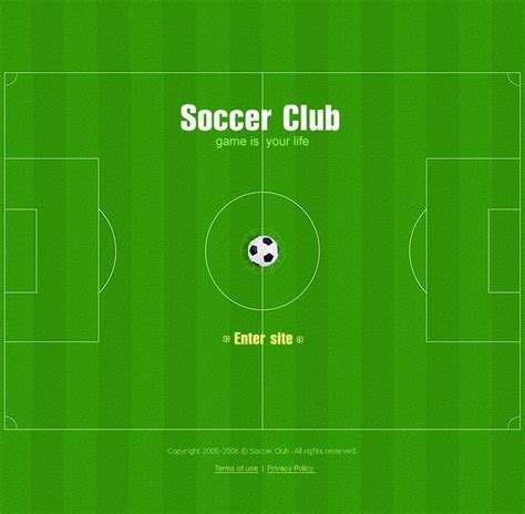 soccer html template soccer flash template 9770