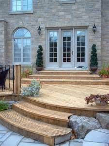 patio step ideas south facing deck idea a set of steps by the sliding patio door would reduce the steps required
