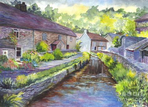 Uk Home Decor Blogs a village in castleton in derbyshire uk painting by carol