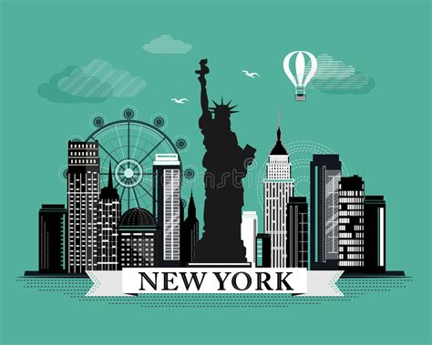 poster design new york cool graphic new york city skyline poster with retro