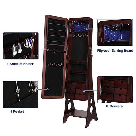 Jewelry Mirror Cabinet Length by Jewelry Cabinet With Mirror Length Free Standing