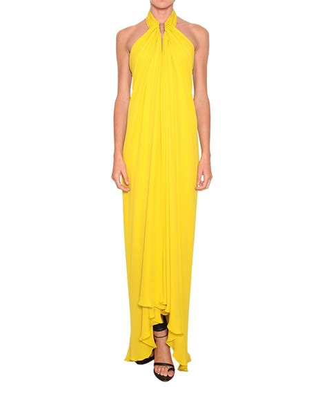 How To Copy Guccis Asymmetrical Yellow Dress For Less by Lyst Plein Sud Asymmetric Silk Dress In Yellow