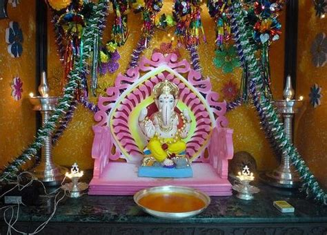 home made decor decorations for ganpati festival