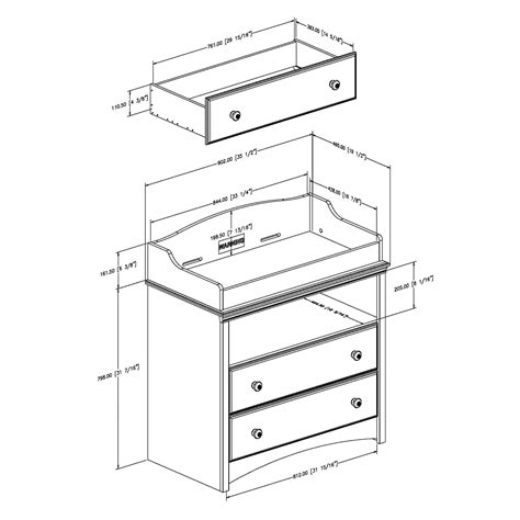 Changing Table Dimensions South Shore Furniture 3680331 Heavenly Changing Table Lowe S Canada