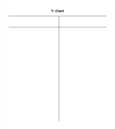 Sle T Chart Template 7 Documents In Pdf Word T Chart Template