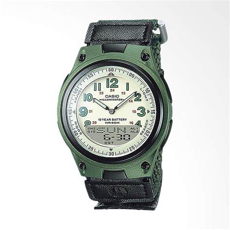 Jam Tangan Unisex Casio Aw 80 9bvdf 10 Year Battery Black Resin Band jual casio aw 80v 3bvdf cloth band jam tangan wanita hijau harga kualitas terjamin