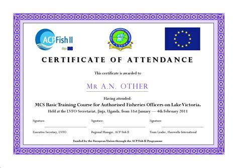 conference certificate of attendance template acp fish ii guides pour la mise en œuvre