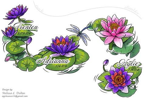 water lily tattoo designs on miscarriage nightmare before