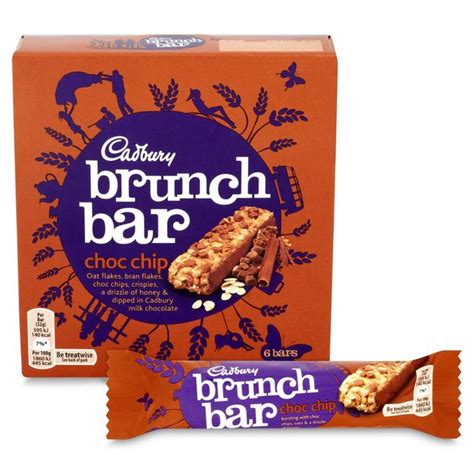 cadbury brunch bar chocolate chip 6 x 32g from ocado