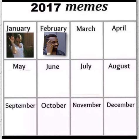 Meme Calendar - meme calendar vote so i ve been seing this meme calendar