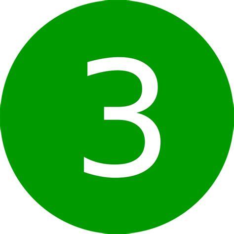 Green Mba Number 1 by Image Vectorielle Gratuite Trois Nombre 3 Symbole