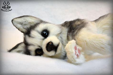 husky puppy toys poseable commission husky puppy by malinatoys on deviantart