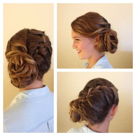 elegant hairstyles for thick hair wedding hair updo for long and thick hair braided updo