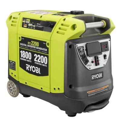 generator home depot ryobi 2 200 watt green gasoline powered digital inverter