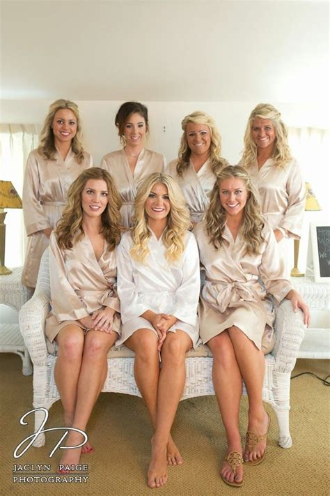 black rob ready idea for bridesmaids getting ready bridesmaids in silk