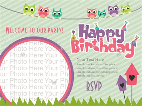 design birthday invitation card photoshop 22 beautiful kids birthday invitations free psd eps