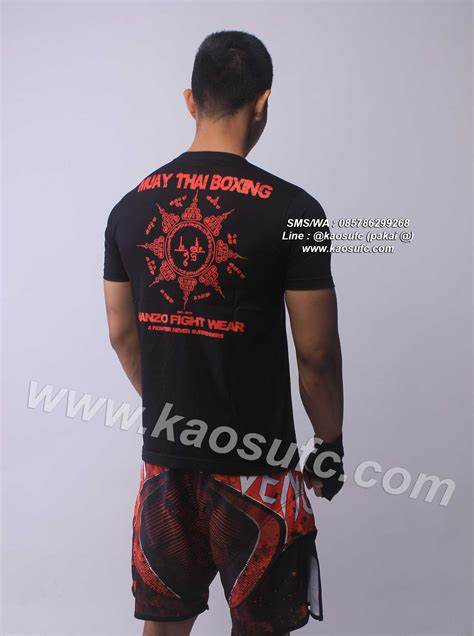 Kaos Mma Muay Thai Rt749 jual kaos muay thai knee hanzo fight gear sms wa