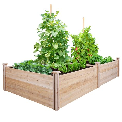 greenes fence rectangular raised garden reviews wayfair