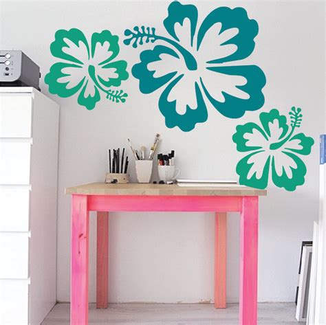 trendy wall designs big hibiscus wall sticker trendy wall designs