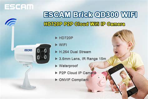 Escam Brick Qd300 Waterproof Bullet Ip Cctv 14 Inch Cmos 720p escam brick qd300 wifi waterproof bullet wireless ip