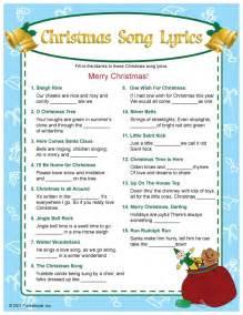 christmas song lyrics game holiday xmas games fun