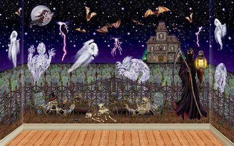 Halloween Wall Mural spooky halloween murals the homesource