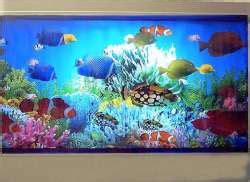 aquarium l fish mirror frame moving picture artificial aquarium fake fish tanks fake aquarium