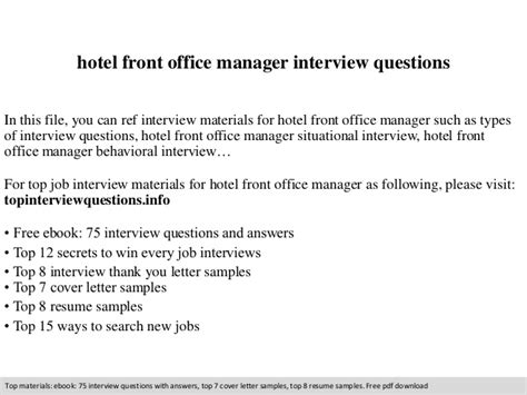 front desk agent interview questions hotel front office manager interview questions
