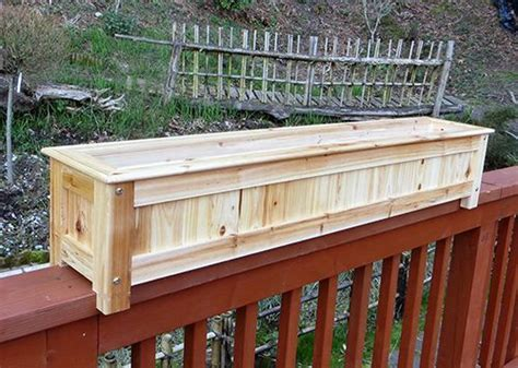 deck railing planter boxes 17 best ideas about deck railing planters on