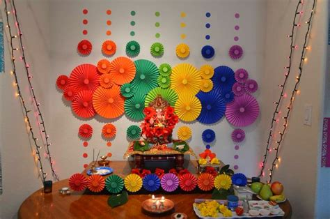 ganpati decoration at home 10 simple yet beautiful ganpati decoration ideas for home