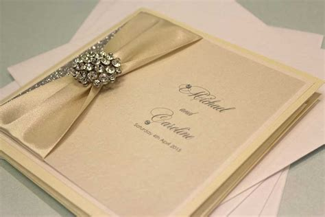 Handcrafted Wedding Invites - caroline and michael handmade wedding invitations
