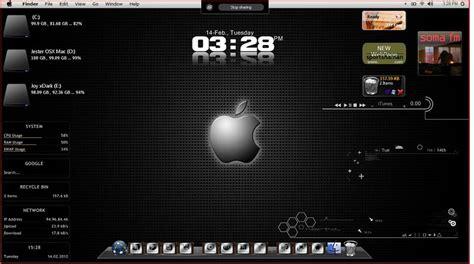 desktop themes mac os mac osx themes with rainmeter by jestjoy11 on deviantart