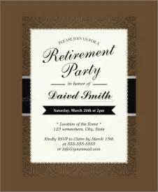 Retirement Template Free by Pin Free Retirement Invitation Template On
