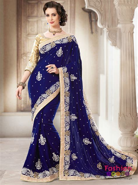 Wedding Dresses Designer Blue by Indian Design Bridal Sarees In Blue