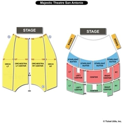 majestic theater san antonio seat numbers majestic theatre san antonio seating charts