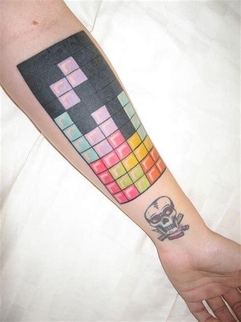 tetris tattoo blocky a tetris geekologie