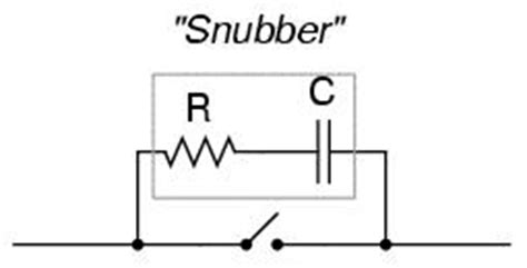 resistor capacitor snubber calculator with both ac and dc contact arcing can be minimized with the addition of a quot snubber quot circuit a