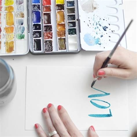 watercolor writing tutorial lettering with watercolor tutorial 31 winning water color