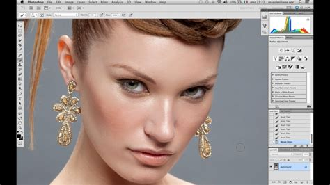 photoshop cs3 skin retouching tutorial photoshop skin professional retouching youtube