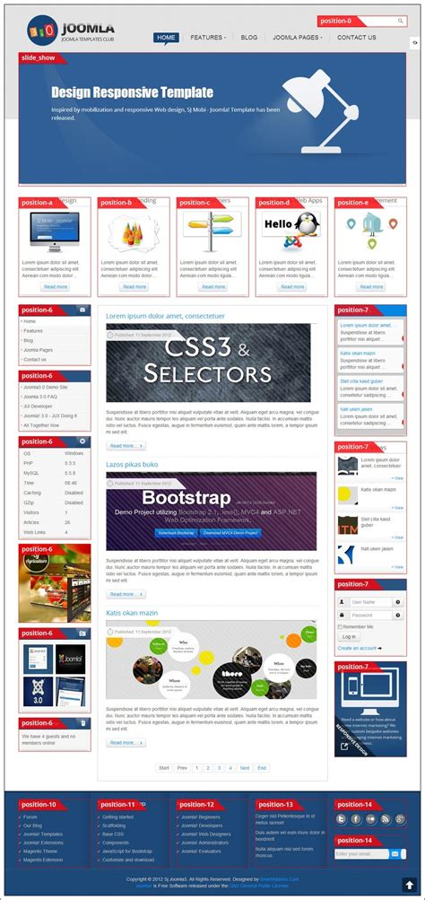 Sj Joomla3 Free Template For free user guide template certificate template software