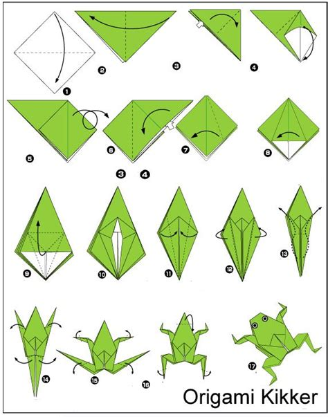 Easy Jumping Frog Origami - best 25 origami frog ideas on easy origami