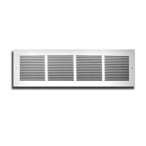 truaire 14 in x 6 in white return air grille h170 14x06