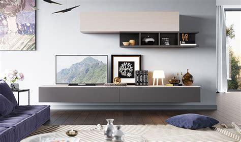 Meuble Pour Salon by Meubles Muraux Pour Salon Tv Design Laqu 233 Gris Et Bois Clair