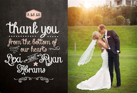 Wedding Thank You Card Psd Template Free by 21 Wedding Thank You Cards Free Printable Psd Eps