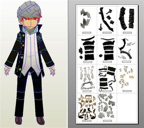 Persona Papercraft - persona 4 narukami yu papercraft by dakenso on deviantart